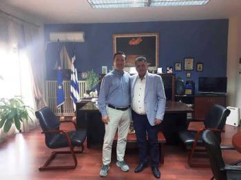 Συνάντηση εργασίας του Δημάρχου Νάουσας με τον Αντιπεριφερειάρχη της Π.Ε. Ημαθίας