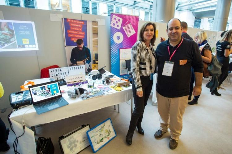 Η Δημόσια Βιβλιοθήκη της Βέροιας, με τους Έλληνες ευρωβουλευτές στις Βρυξέλλες, στο Generation Code