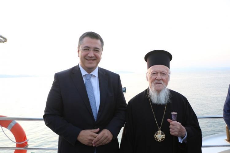 Ο Περιφερειάρχης Κ. Μακεδονίας Απ.Τζιτζικώστας στην Ι.Μ. Ξενοφώντος Αγίου Όρους με τον Οικουμενικό Πατριάρχη Βαρθολομαίο