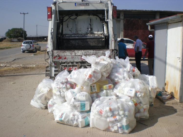 Δεύτερη συλλογή κενών συσκευασιών φυτοπροστατευτικών προϊόντων από τον Δήμο Βέροιας