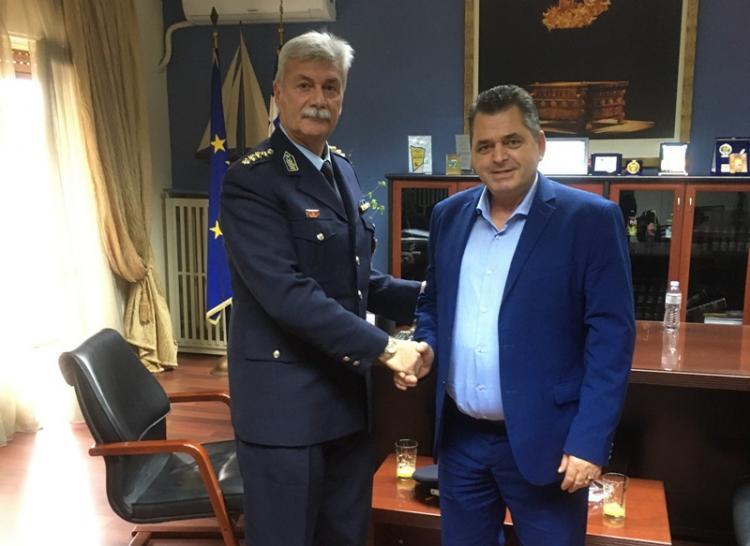 Εθιμοτυπική επίσκεψη του Διευθυντή της Διεύθυνσης Αστυνομίας Ημαθίας στον Αντιπεριφερειάρχη Π.Ε. Ημαθίας