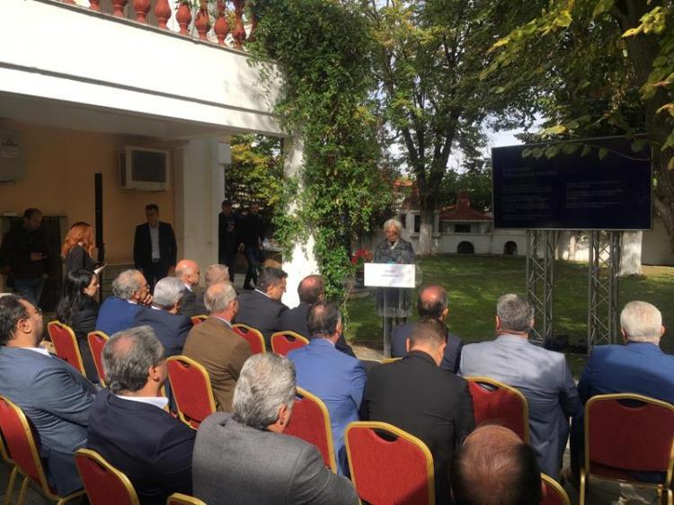 Στην παρουσίαση του «Δικτύου Πόλεων του Μεγάλου Αλεξάνδρου» έδωσε το «παρών»  ο Δήμαρχος Νάουσας Ν.Καρανικόλας