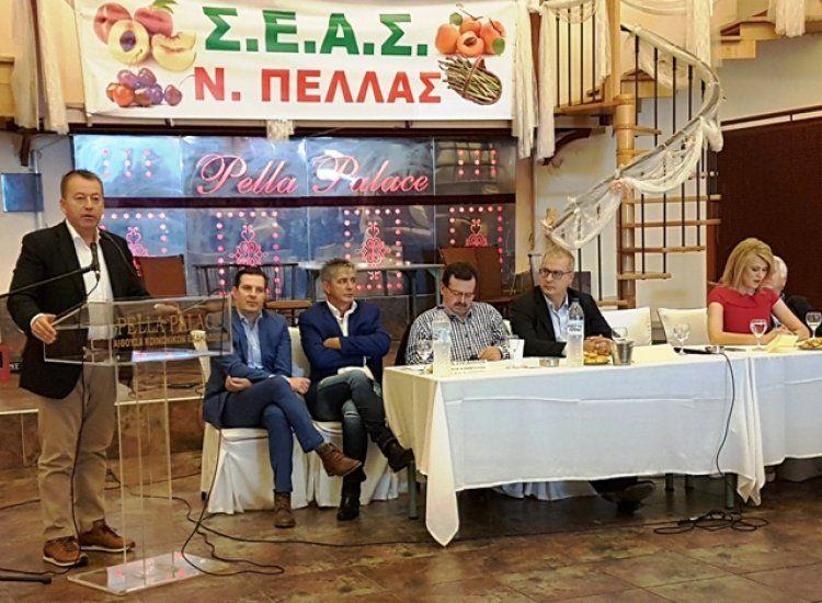 Επίσκεψη του Υφυπουργού Αγροτικής Ανάπτυξης και Τροφίμων κ. Βασιλείου Κόκκαλη στην Πέλλα