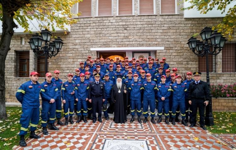 Επίσκεψη 80 φοιτητών της Σχολής Πυροσβεστών Πτολεμαΐδας στον Μητροπολίτη Βεροίας