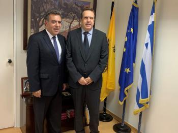 Συνάντηση του Υφ. Τουρισμού Μ.Κόνσολα με το Προεδρείο της Ελληνικής Συνομοσπονδίας Εμπορίου και Επιχειρηματικότητας