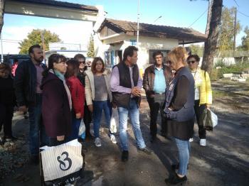 Αντιπροσωπεία του Εργατικού Κέντρου Νάουσας στη δομή φιλοξενίας προσφύγων στην Αλεξάνδρεια