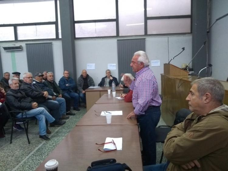 Σύσκεψη συνταξιούχων ενόψει του συλλαλητηρίου στις 30 Νοέμβρη για το ασφαλιστικό