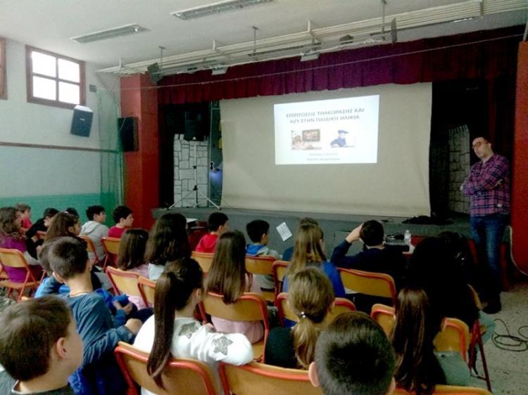 Στο 1ο Δημοτικό Σχολείο Βέροιας ο νευρολόγος Στέργιος Κολιός