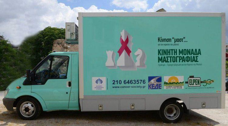 Επίσκεψη Κινητής Μονάδας Μαστογράφου στο Δήμο Νάουσας