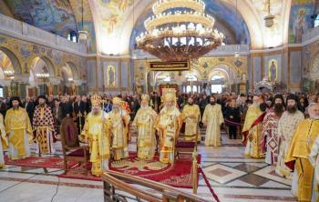 Πολυαρχιερατικό συλλείτουργο στον Άγιο Ανδρέα στην Πάτρα