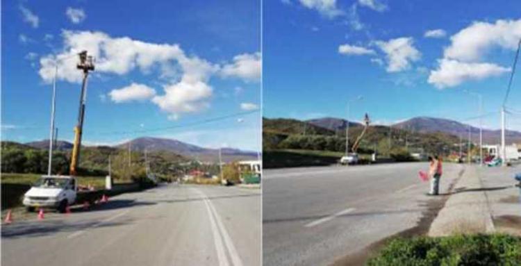 Περιφερειακή Ενότητα Ημαθίας: Αποκατάσταση βλαβών ηλεκτροφωτισμού στο οδικό δίκτυο της Νάουσας