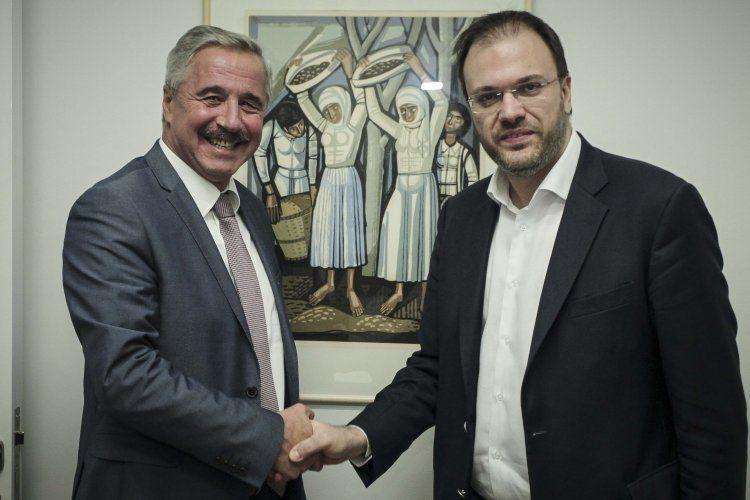 Δηλώσεις του Θανάση Θεοχαρόπουλου και του Γιάννη Μανιάτη μετά τη συνάντησή τους