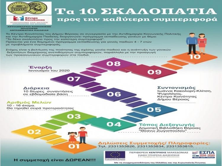 «Τα δέκα σκαλοπάτια προς την καλύτερη συμπεριφορά» : πρόγραμμα εκπαίδευσης γονέων