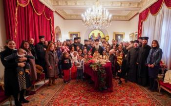 Πρωτοχρονιάτικα κάλαντα, δώρα για τα παιδιά των ιερέων και κοπή βασιλόπιτας στο Μητροπολιτικό Μέγαρο Βεροίας