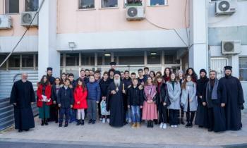 Τους ασθενείς στο Νοσοκομείο Βεροίας επισκέφθηκε την Πρωτοχρονιά ο Μητροπολίτης κ. Παντελεήμων