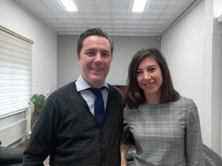 Συνάντηση Δημάρχου Νάουσας Νικόλα Καρανικόλα με τη Ναουσαία πρωταθλήτρια του σκι αντοχής Μαρία Ντάνου
