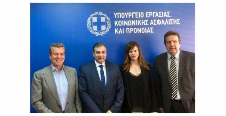 Συνάντηση ΕΣΕΕ και Κοινωνικών Εταίρων με την Υπουργό Εργασίας για τα εκκρεμή θέματα