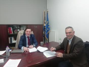 Υπεγράφη η σύμβαση του έργου ανάπλασης της πλατείας Κοπανού, μεταξύ του Δήμου Νάουσας και της Αναπτυξιακής Ημαθίας