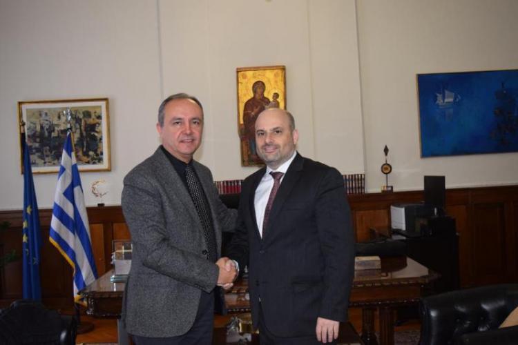 Συνάντηση του υφ. Εσωτερικών (Μακεδονίας και Θράκης) κ. Θ.Καράογλου με το διοικητή της Εθνικής Αρχής Διαφάνειας