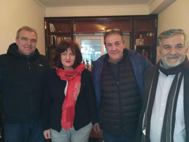 Φρόσω Καρασαρλίδου : Επίσκεψη σε τοπικούς επιχειρηματίες και μέλη της διοίκησης του Επιμελητηρίου