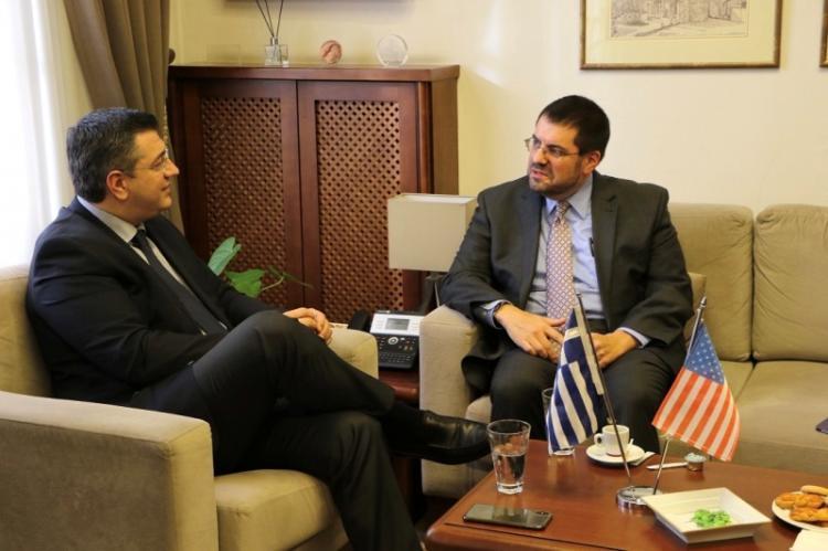Συνάντηση του Α.Τζιτζικώστα με τον Επιτετραμμένο στην Πρεσβεία των ΗΠΑ David Burger και το Γενικό Πρόξενο των ΗΠΑ στη Θεσ/νίκη Gregory Pfleger