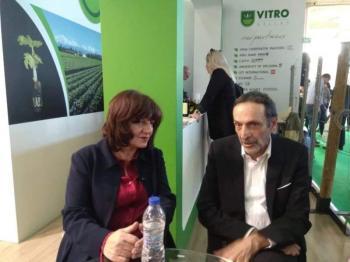 Με εκθέτες από την Ημαθία συναντήθηκε στην AGROTICA η Φρόσω Καρασαρλίδου