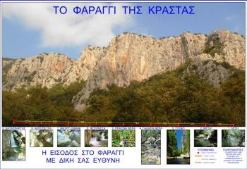 Το Φαράγγι της Κράστας, 10 Χρόνια Φέτος!!! Πινακίδα- Χάρτης-Πληροφορίες