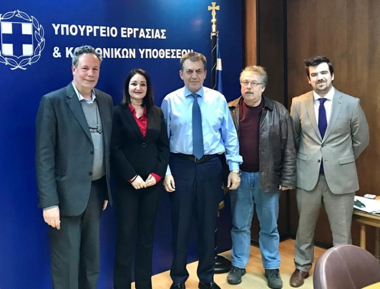 Επίσκεψη ΣΗΠΕ, ΕΙΕΤ στον υπ.Εργασίας, Γ. Βρούτση για το ασφαλιστικό και το Πρόγραμμα στήριξης του περιφερειακού Τύπου