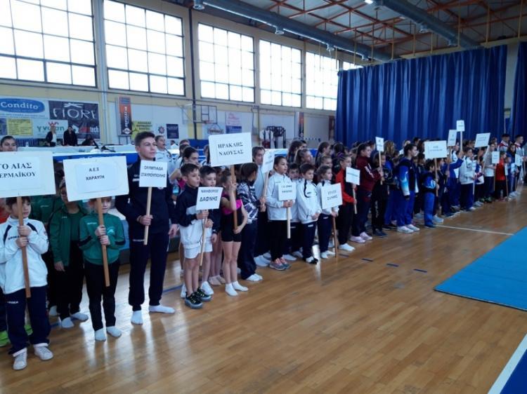 5 αθλήτριες του Ηρακλή Νάουσας στους αγώνες τραμπολίνο στην Περαία Θεσσαλονίκης