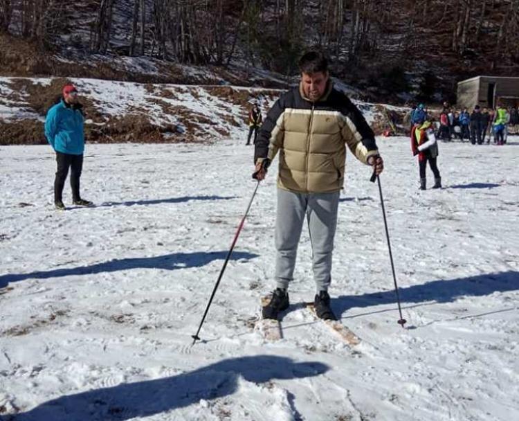 Χιονοδρομικό Κέντρο «3-5 Πηγάδια» Νάουσας, γνωριμία ΑμεΑ με το χιόνι