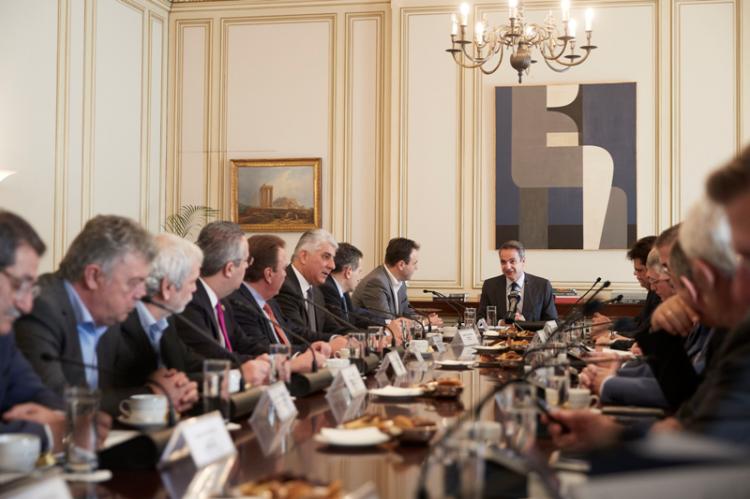 Συνάντηση του Πρωθυπουργού Κυριάκου Μητσοτάκη με την Κεντρική Ένωση Δήμων Ελλάδας