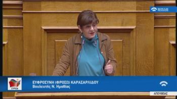 Ερώτηση της Φρόσως Καρασαρλίδου στη Βουλή για τις Στέγες Υποστηριζόμενης Διαβίωσης ατόμων με αναπηρία