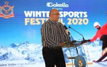 Τιμητική Βράβευση στον Α.Παντελίδη από την Αυτού Εξοχότητα Πρόεδρο της Δημοκρατίας του Πακιστάν για την ανάπτυξη της χιονοδρομίας