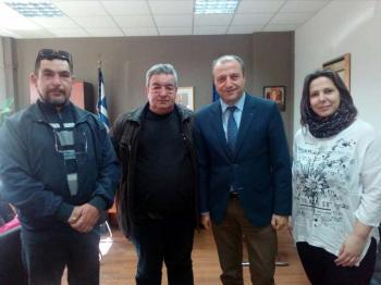 Σε θετικό και θερμό κλίμα η συνάντηση του διοικητή του Γ.Ν. Βέροιας με το Δ.Σ. του ΣΟΦΨΥ Ημαθίας