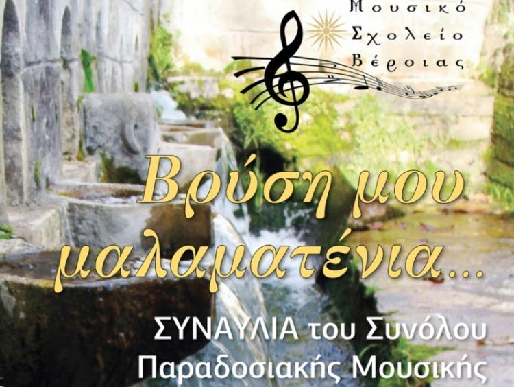 Πρόσκληση του Μουσικού Σχολείου Βέροιας σε συναυλία του Συνόλου Παραδοσιακής Μουσικής