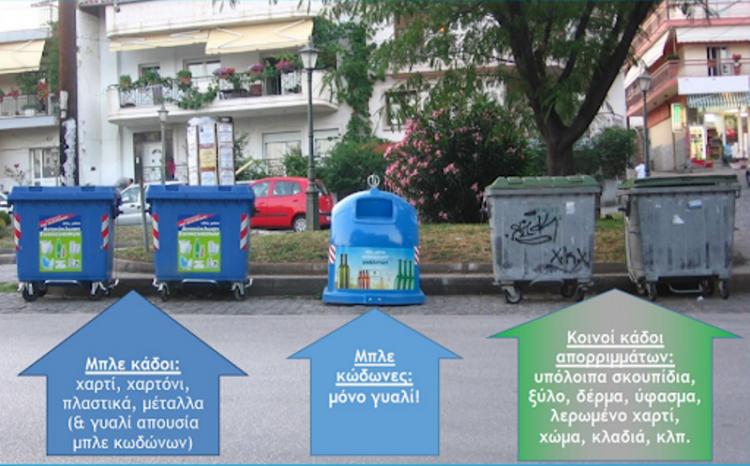 Έξι κάδοι σε κάθε σπίτι και γειτονιά για διαχωρισμό απορριμμάτων!
