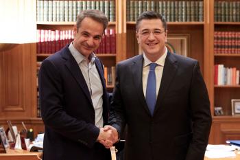 Συνάντηση του Πρωθυπουργού Κυριάκου Μητσοτάκη με τον Περιφερειάρχη Κεντρικής Μακεδονίας Απόστολο Τζιτζικώστα