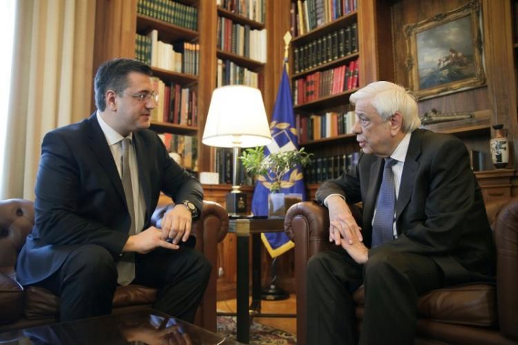 Συνάντηση του Προέδρου της Ευρωπαϊκής Επιτροπής των Περιφερειών και Περιφερειάρχη Κ.Μακεδονίας Απ.Τζιτζικώστα με τον ΠτΔ Πρ.Παυλόπουλο