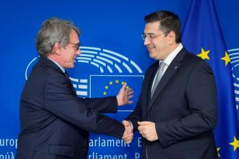 Συνάντηση του Προέδρου της Ευρωπαϊκής Επιτροπής των Περιφερειών, Α.Τζιτζικώστα, με τον Πρόεδρο του Ευρωπαϊκού Κοινοβουλίου D.Sassoli στις Βρυξέλλες