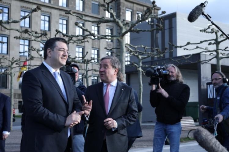 Συνάντηση του Προέδρου της Ευρωπαϊκής Επιτροπής των Περιφερειών Α.Τζιτζικώστα με τον Πρωθυπουργό της Β.Ρηνανίας-Βεστφαλίας A.Laschet στο Ντίσελντορφ