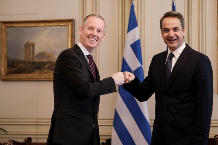 Συνάντηση του Πρωθυπουργού Κ.Μητσοτάκη με τον Αντιπρόεδρο της Ευρωπαϊκής Τράπεζας Επενδύσεων A.McDowell