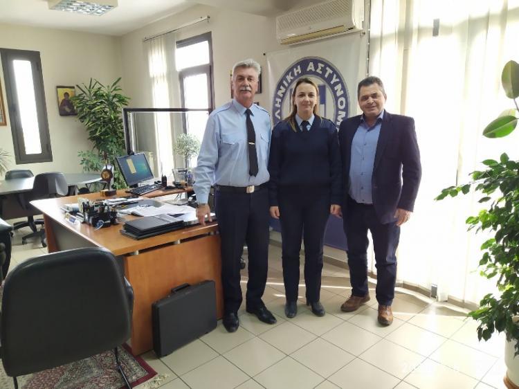 Επίσκεψη του Αντιπεριφερειάρχη Ημαθίας στον Αστυνομικό Διευθυντή Ημαθίας