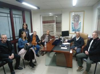 Ο Λάζαρος Τσαβδαρίδης με τον Υποδιοικητή του ΕΦΚΑ