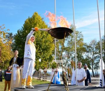Η Βέροια υποδέχθηκε την Κυριακή την Ολυμπιακή Φλόγα