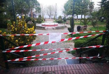 Έκλεισε το πάρκο της Νάουσας και το άλσος του Αγίου Νικολάου