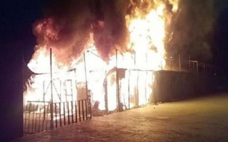 Τελικά αυτοί που έκαψαν τη δομή ψυχαγωγίας των μεταναστών στη Λέσβο ήταν...Παλαιστίνιοι!
