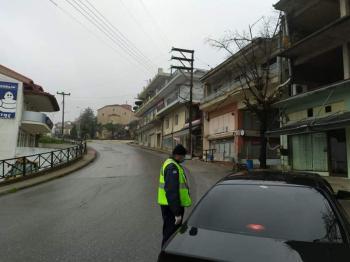 Εντατικοί οι έλεγχοι από την αστυνομία στην Ημαθία για την απαγόρευση της κυκλοφορίας
