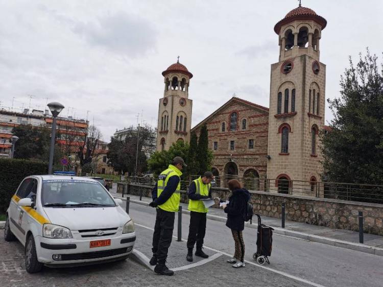 Συνεχίζονται με αμείωτη ένταση οι έλεγχοι της Δημοτικής Αστυνομίας στη Βέροια λόγω κορονοϊού