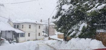 Σέλι. Με χιονάνθρωπο και ένα μέτρο χιόνι!