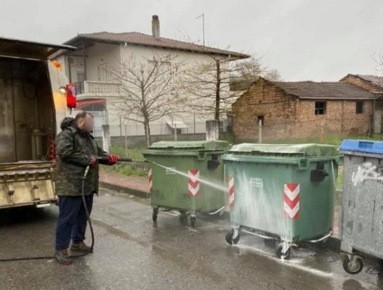 Δήμος Βέροιας : «Πλύση – απολύμανση κάδων απορριμμάτων»